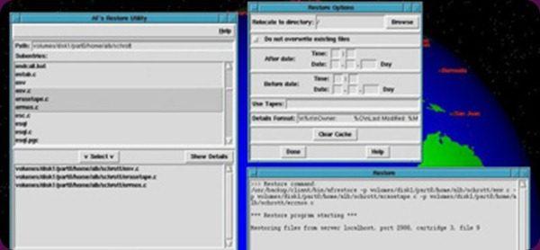 AFbackup sofisticato sistema client-server per sfruttare un sistema di backup centralizzato.
