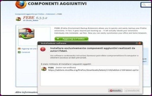 Rilasciata una nuova versione di FEBE (Firefox Environment Backup Extension).