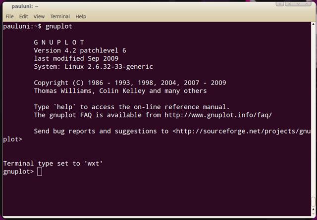gnuplot-on-terminal