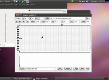 Seq24 sequencer minimale per la riproduzione di loop MIDI.