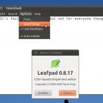 LeafPad è un editor di testo molto leggero basato su GTK+