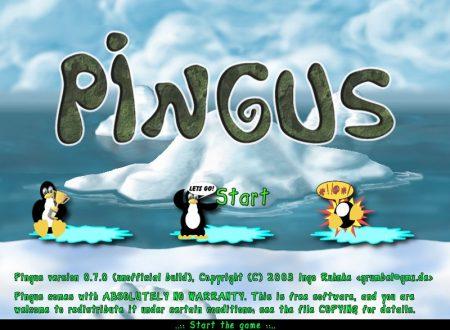 Pingus è un clone libero di pinguini del popolare gioco Lemmings.